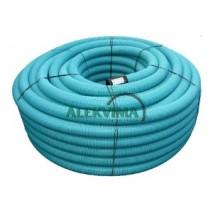 PVC drenažo vamzdis su geotekstilės filtru 58 / 50 mm (50m)