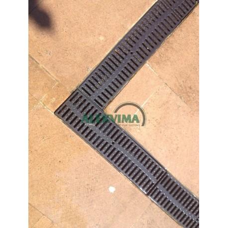 Drenažo latakas su poliamido grotelėmis 130/90mm - 0.5м