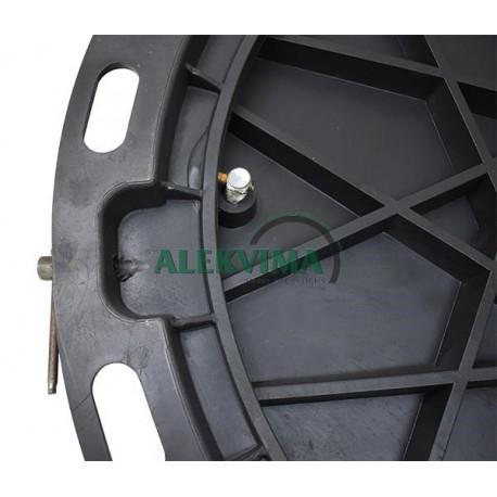 A15 plastikinis šulinio dangtis iš PP (juodas)