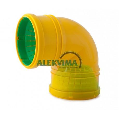 Universali alkūnė drenažo vamzdžiui 72-100 mm