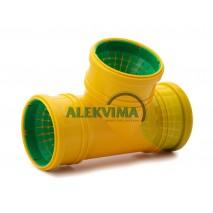 Universalus trišakis drenažo vamzdžiui 72-100 mm