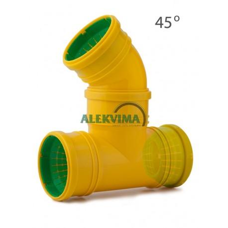Universalus 45 laips. trišakis drenažo vamzdžiui 72-100 mm