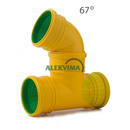 Universalus 67 laips. trišakis drenažo vamzdžiui 72-100 mm