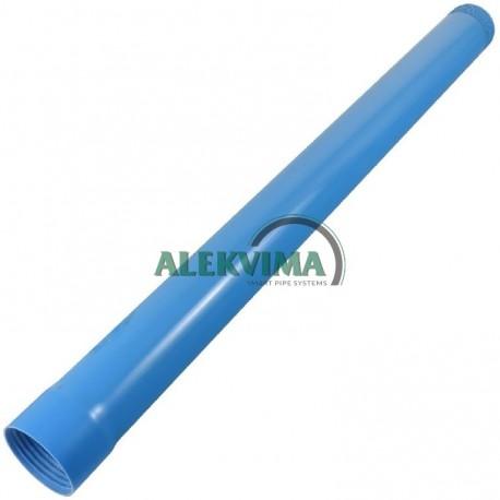PVC vamzdis gręžiniams d160x7.7mm su klijuojama jungtimi po 6m