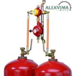 Dujų balionų pajungimo įranga