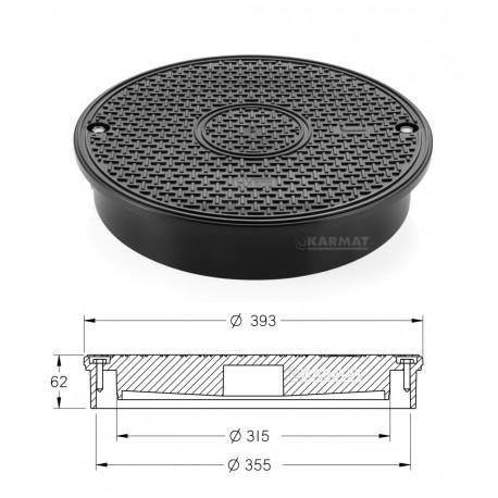 Dangtis šulinio stovui plastikinis 315 mm 7.5 t
