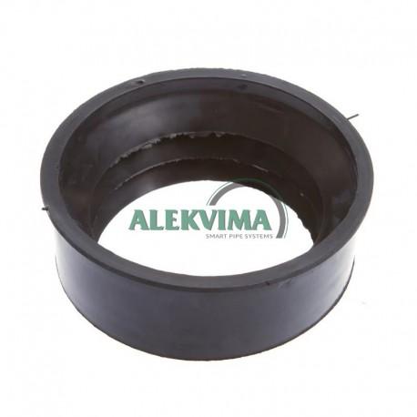 Guminė tarpinė perėjimas iš ketaus 124 mm į plastiką 110 mm