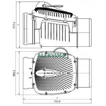 Atbulinis kanalizacijos vožtuvas DN 315 mm