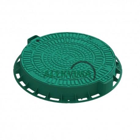 Plastikinis šulinio dangtis 800/82mm žalias