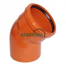PVC lauko nuotekų alkūnė 110 / 45°