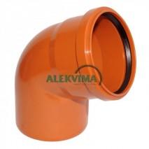 PVC lauko nuotekų alkūnė 200 / 67°
