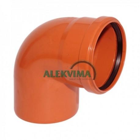 PVC lauko nuotekų alkūnė 160 / 87°