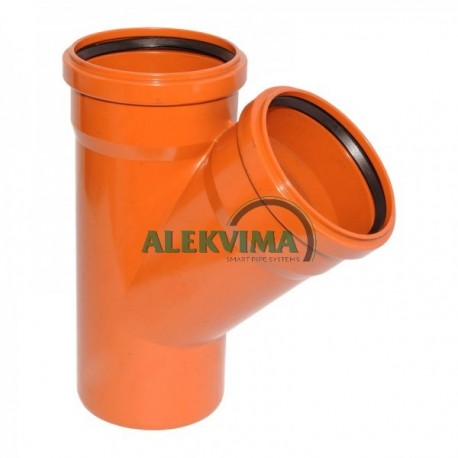 PVC lauko nuotekų trišakis 200 x 200 x 200 / 45°