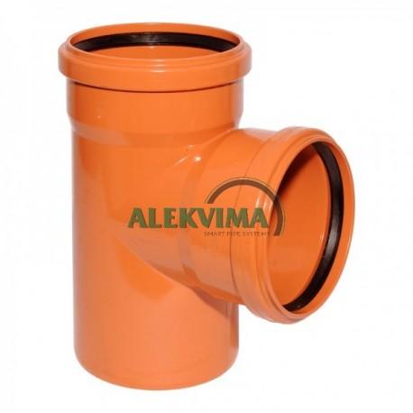 PVC lauko nuotekų trišakis 200 x 200 x 200 / 87°