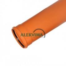 PVC lauko nuotekų vamzdis 160 / 1000 mm 1m SN4