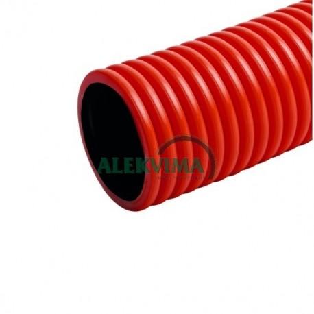 Gofruotas instaliacinis vamzdis kabeliui 160 / 141 mm po 25m, 450N